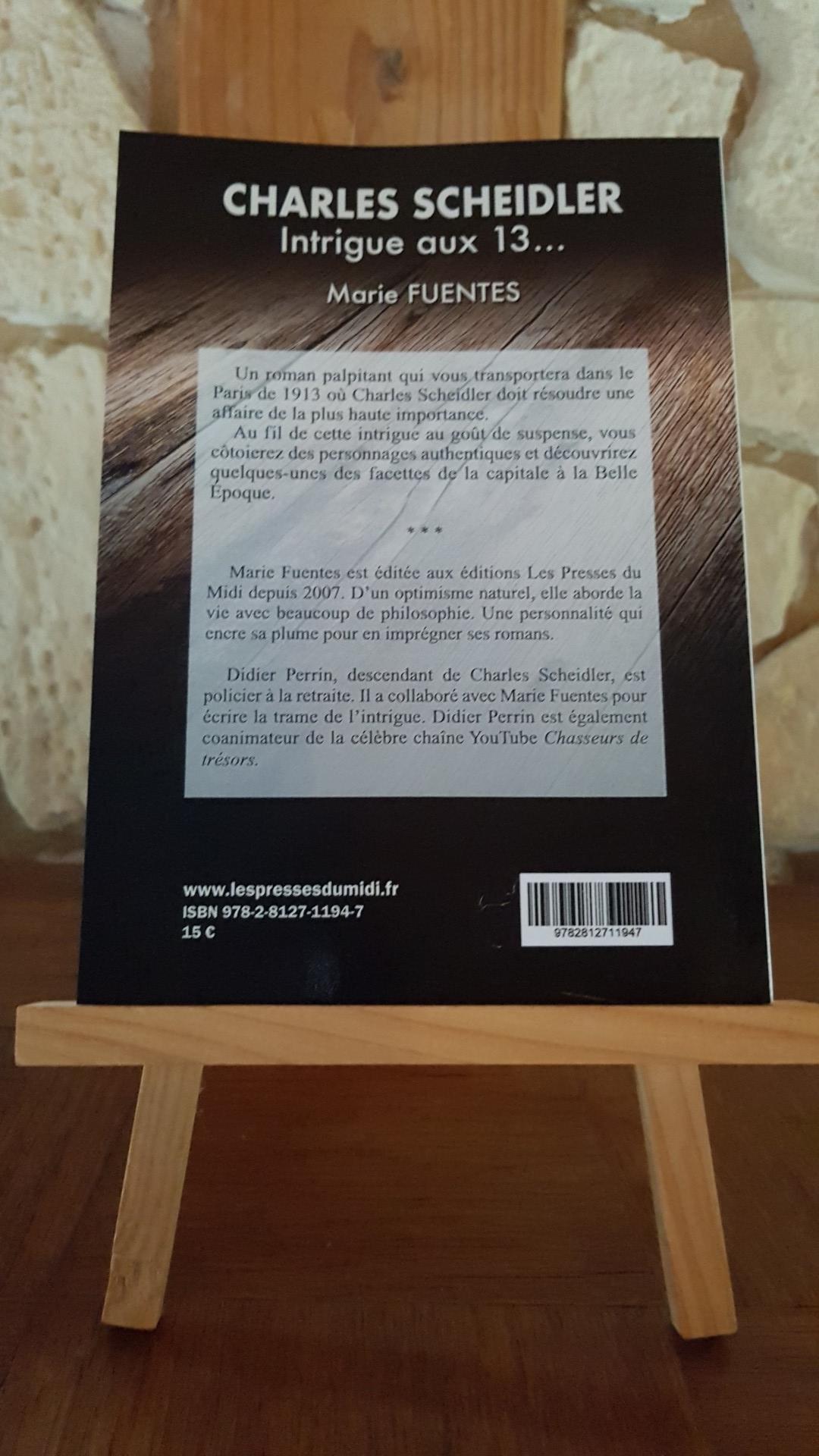 Charles SCHEIDLER - Intrigue aux 13... 4ème de couverture